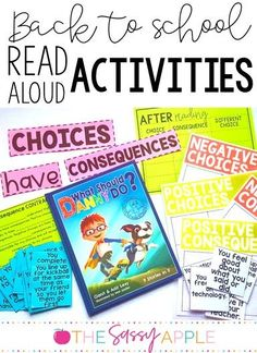 Back to School resources and read alouds for introducing classroom expectations and foster a positive classroom community with logical consequences and problem solving