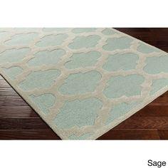 Surya Hand-tufted Moroccan Trellis Wool Rug (5' x 7'6) (Sage-(5' x 7'6)), Green