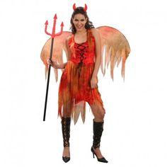 Disfraces Halloween mujer | Disfraz de diablesa de fuego. Contiene vestido acordonado, alas y diadema de cuernitos. Talla M. 17,95€ #diabla #diablesa #disfrazdiabla #disfrazdiablesa #disfraz #halloween #disfrazhalloween #disfraces