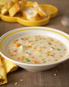 What's more comforting than Chicken Pot Pie? Grab a spoon and dig in. Chicken And Leek Recipes, Soup Recipes, Cooking Recipes, Chicken Dumpling Soup, Cheese Soup, Dinner Dishes, Pot Pie, Soups And Stews, Polish Food