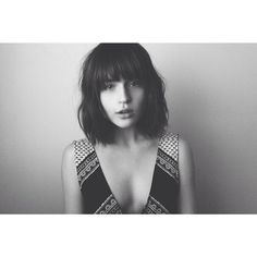rima_rama's photo on Instagram - shoulder length bob with bangs