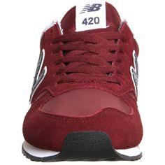 New Balance U420 Trainers ($93) ❤ liked on Polyvore featuring shoes, light weight shoes, new balance, new balance footwear, new balance shoes and burgundy shoes