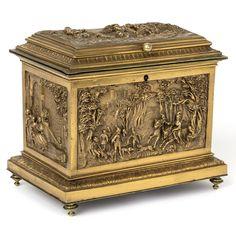 19th Century Rare Copper Relief Box