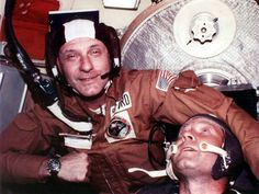 "U.S. astronauts and Russian cosmonauts united their spaceships    ""Glad to see you,"" said the Soyuz's Colonel Alexei Leonov said in English.  ""A, zdravstvuite, ochen rad vas videt"" (""Ah, hello, very glad to see you.""), Apollo's General Tom Stafford replied, as the two commanders shook hands through the opened hatches in their connecting module.  Omega Speedmaster Moon Watch"
