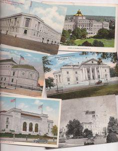 Washington DC Old Postcards, famous buildings
