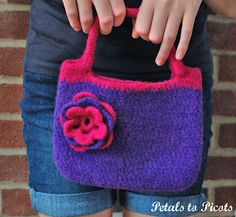 Pretty Little Felted Purse Crochet Pattern