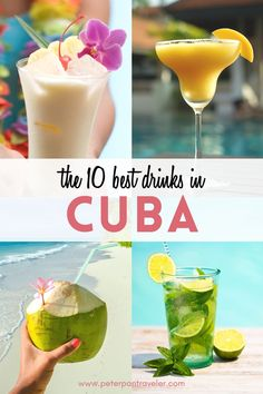 Planning a trip to Cuba? Wondering what drinks you should drink when you are there. Even if you aren't going to Cuba, here is some on the best Cuban drinks you can make at home. Fun Cocktails, Fun Drinks, Drinks Alcohol, Cuba Travel, Beach Travel, Mexico Travel, Spain Travel, Cuba Beaches, Visit Cuba