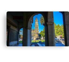 Framing the Old Town Hall - Bendigo, Victoria Canvas Print