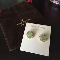 Kate Spade Posts Lovely Kate Spade earrings in mint green. Excellent condition. kate spade Jewelry Earrings