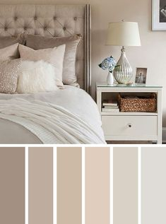 The Best Color Schemes for Your Bedroom,The Best Color Schemes for Your Bedroom,neutral bedroom color palette #color #colorpalette #navyblue #bedroom #grey