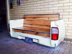 pallet car shape bench