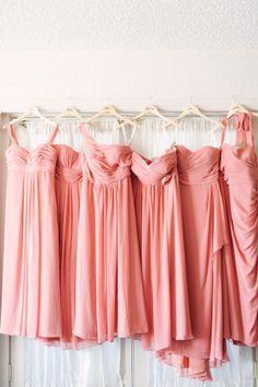 #coral #bridesmaid dresses