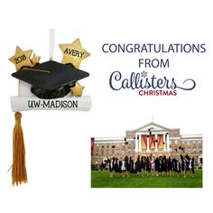 Congratulations to the University of Wisconsin-Madison Class of 2018 grads and all graduates celebrating their amazing achievement this weekend! Give a shout out to your special graduate with one of our keepsake personalized graduation ornaments. Graduation Ornament, College Graduation Gifts, Class Of 2018, University Of Wisconsin, Personalized Ornaments, New Career, Graduate School, Last Minute Gifts, School Days