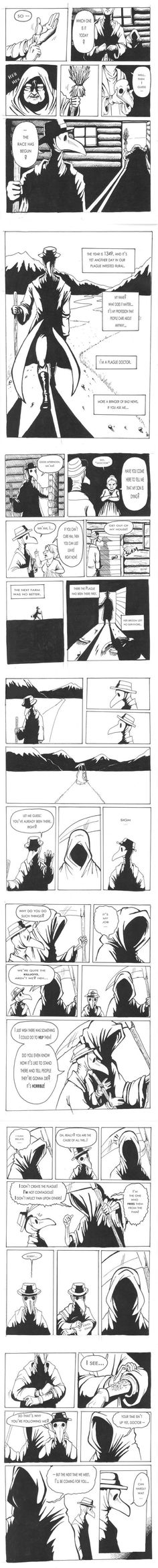 The Plague Doctor. (Credit goes to oomizuao)- The Plague Doctor. (Credit goes to oomizuao) Archie Comics, Sad Comics, Comics Story, Short Comics, Cute Comics, Funny Comics, Cute Stories, Short Stories, Fandoms