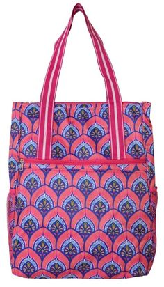Check out this Bali Blooms (Pink & Blue) All For Color Ladies Tennis Shoulder Bag! Find the best Tennis Accessories at nicolestennisboutique.com
