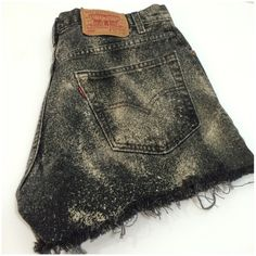 "5 pocket, zip fly, cut off shorts - Levi's 5 pocket, zip fly, cut off shorts. Measurements - waist ~ 33"", inseam ~2.5"", front rise 12"", rear rise ~15.5"". 100% cotton. Levi's Shorts Jean Shorts"