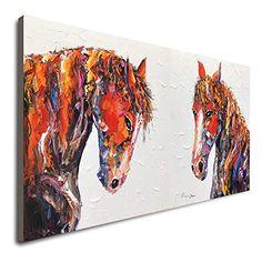 Amazon.com: Horse Wall Decor Handmade Painting Horses Painting Abstract Colorful Horse Painting On Canvas Abstract Canvas Or Poster Art Colorful Abstract Artwork Contemporary Art Horse Lover Poster: Handmade