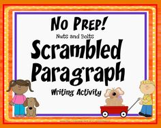 Free Scrambled Paragraph Lesson~ Students use transitions and inferential clues to assemble paragraphs containing a title, topic sentence, three details with support, and a closing sentence. 5th Grade Writing, Writing Classes, Writing Lessons, Writing Workshop, Writing Resources, Teaching Writing, Writing Activities, Writing Ideas, Teaching Resources