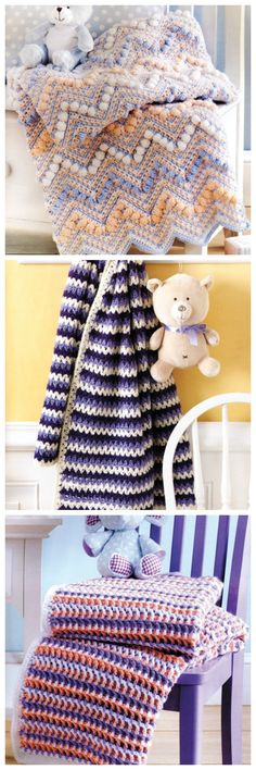 Sweet Stripes for Baby crochet patterns from Annie's Craft Store. Order here: https://www.anniescatalog.com/detail.html?prod_id=133509&cat_id=468