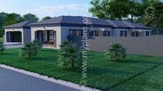 4 Bedroom House Plan – My Building Plans South Africa Split Level House Plans, Square House Plans, Free House Plans, Tuscan House Plans, Metal House Plans, 4 Bedroom House Plans, Family House Plans, My Building, Building Plans