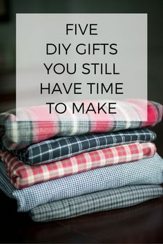 Five holiday gifts you still have time to make :: All of these ideas make great teacher gifts too.