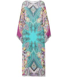 92e968a546350d ETRO - Printed silk dress - Etro updates a classic beach-side look with the