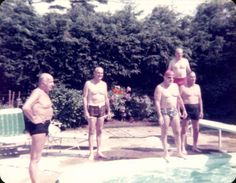 Men in Swimsuits, Swimming Pool, Vintage Photo, Color Photo, Snapshot, Old Photo, Found Photo by foundphotogallery on Etsy