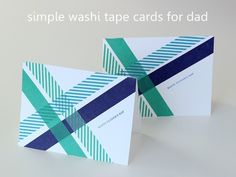 DIY Father's Day cards - Washi Tape Crafts