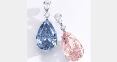 The most valuable pair of earrings to ever hit the auction block, the Apollo Blue and the Artemis Pink could sell for combined total of $68 million.