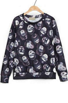 Street-chic Punk Fleece Sweatshirt OASAP.com