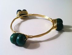 The Anniston  gold wire wrapped bangle bracelet with by SOHbangles, $24.00