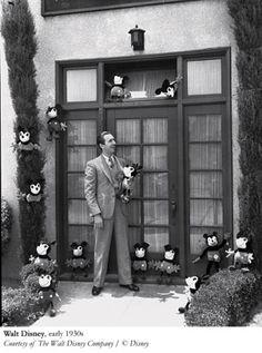 Walt Disney; lotsa Mickey Mouses (Mickey Mice? lol)