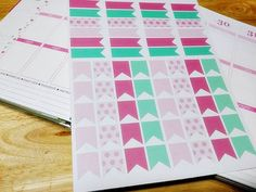 Printable Planner Flags and Banners  For Erin Condren, Happy Planner, Filofax, bullet journal or any other planner by SillyMimisHouse