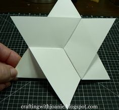 "A Star Fold Card for almost any Occasion:              To make this 6"" card, you will need to start with a piece of paper measuring 12 X 12...."