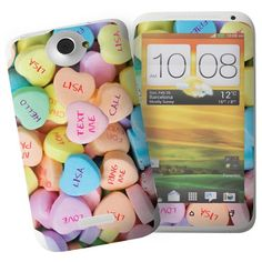 Personalised Love Hearts HTC One X Phone Skin  from Personalised Gifts Shop - ONLY £7.95