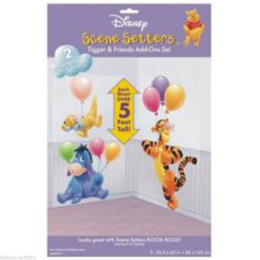 Cute Disney Winnie The Pooh Bear Scene Setter Prop Add on us Tigger and Eyore