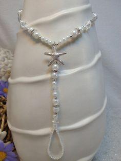 Destination Wedding barefoot sandal pearl por SilverSpoonLifestyle