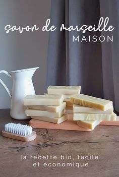 How to make homemade Marseille soap. Beauty Tips For Face, Diy Beauty, Face Tips, Beauty Hacks, Diy Savon, Savon Soap, Limpieza Natural, Homemade Cosmetics, How To Make Homemade