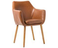 149 Euro  Ein Armlehnstuhl ist klassisch und vielseitig einsetzbar. Und natürlich überaus bequem! Armlehnstuhl NORA verspricht durch gute Polsterung einen Sitzplatz zum Verlieben, Bestens geeignet für längeres Sitzen in unterhaltsamer Runde! Armlehnstuhl NORA beschwört durch seine Lederoptik Lounge-Atmosphäre herauf, selbst seine Optik lädt zum Abschalten ein.
