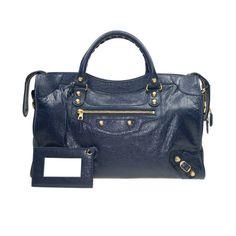 4ee504bd03f8a7 Balenciaga 281770 D94JG 4020 Giant 12 Gold City Shoulder Bag