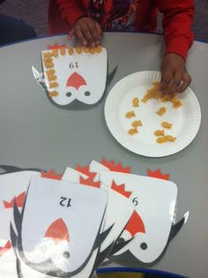 Penguin counting snack and activity