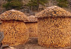 Wood Stacking Art