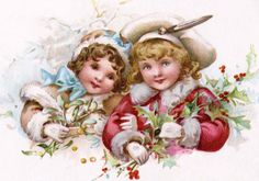 Vintage christmas children* Merry Xmas to all Pinterest friends my Xmas gift to you  1500 free paper dolls at The International Paper Doll Society also gift of free paper dolls at The China Adventures of Arielle Gabriel *