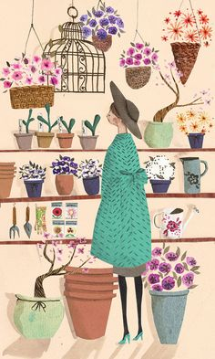 The Flower Shop A4 Archival Art Print