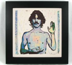 George Harrison handprinted reduction linocut print by VideoUnit12, $20.00