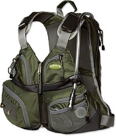 If you see fishing as more of a hiking The Safe Passage Hydration Chest and Day Pack ($150) features a neoprene-insulated bladder that holds roughly half a gallon of water to keep you hydrated, seven front pockets for all your gear, integrated hand-warmer pockets, a net holster, and more.