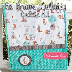 Be Brave Lullaby Cuddle Kit Featuring Cuddle Fabric by Shannon Fabrics | Fat…