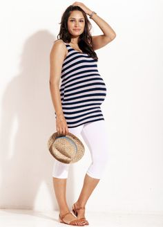 Trimester™ - Millennium Striped Miracle Maternity Tank Top - Perfect for the new season