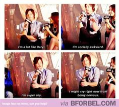 Norman Reedus On Being Daryl Dixon… awww dont cry i love you