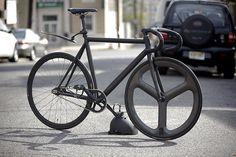 My Bianchi Pista Concept commuter lock up bike... by Dancing Weapon of Mass Destruction, via Flickr